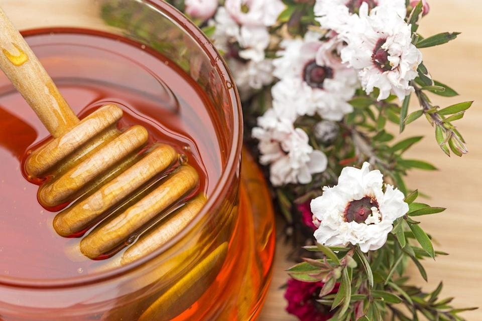 """<p>""""Manuka honey helps speed the healing of <strong>cuts, burns, and other wounds</strong> because of its antibacterial and antifungal properties. It's rich in gallic acid and the antioxidant quercetin, which both help with healing.I recommend washing the area and massaging a small amount of honey directly onto a cut. Then cover with an adhesive bandage."""" </p><p><em>—Dr. Diane Madfes</em></p>"""