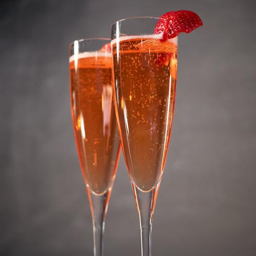 """<p>What's Valentine's Day without a little kiss, topped with a bit of Champagne? This cocktail gives you both in one flute. All you need is a strawberry shrub, Champagne and some white crème de cacao to take your special night to the next level.</p><p><a href=""""http://liquor.com/recipes/the-little-kiss?utm_source=yahoo&utm_medium=shine&utm_campaign=dstr"""">Get the recipe for The Little Kiss.</a></p>"""