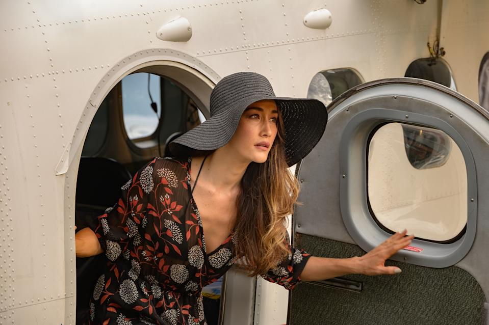 Maggie Q  in Columbia Pictures' BLUMHOUSE'S FANTASY ISLAND. (Sony Pictures)
