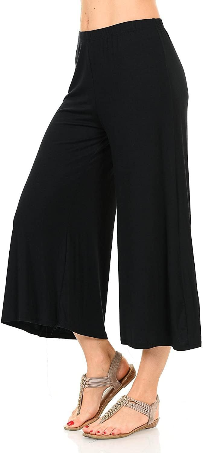 <p>Like these <span>Iconic Luxe Women's Elastic Waist Jersey Culottes Pants</span> ($15-$19).</p>