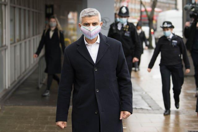 Sadiq Khan walks a beat in Bethnal Green