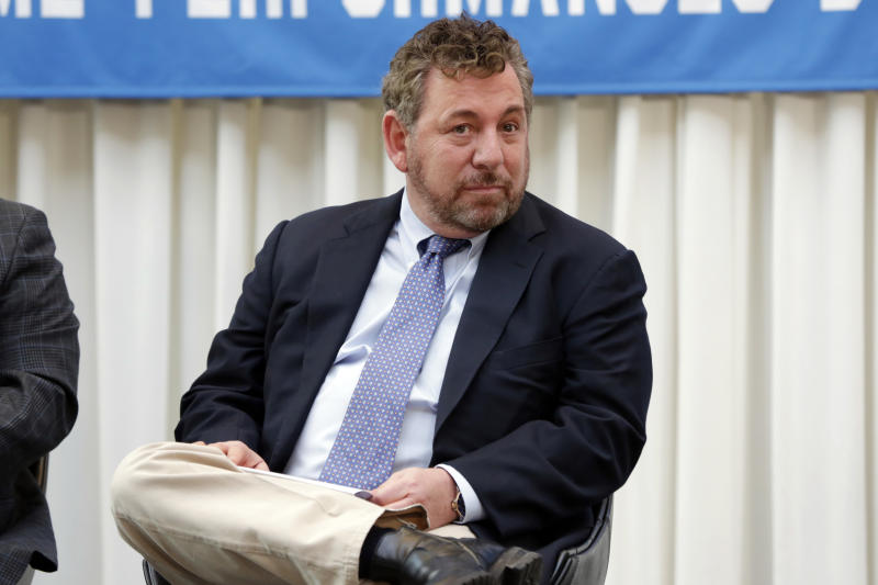 Madison Square Garden Chairman & CEO James Dolan attends the ceremony marking Billy Joel's 100th performance at New York's Madison Square Garden, Wednesday, July 18, 2018. (AP Photo/Richard Drew)