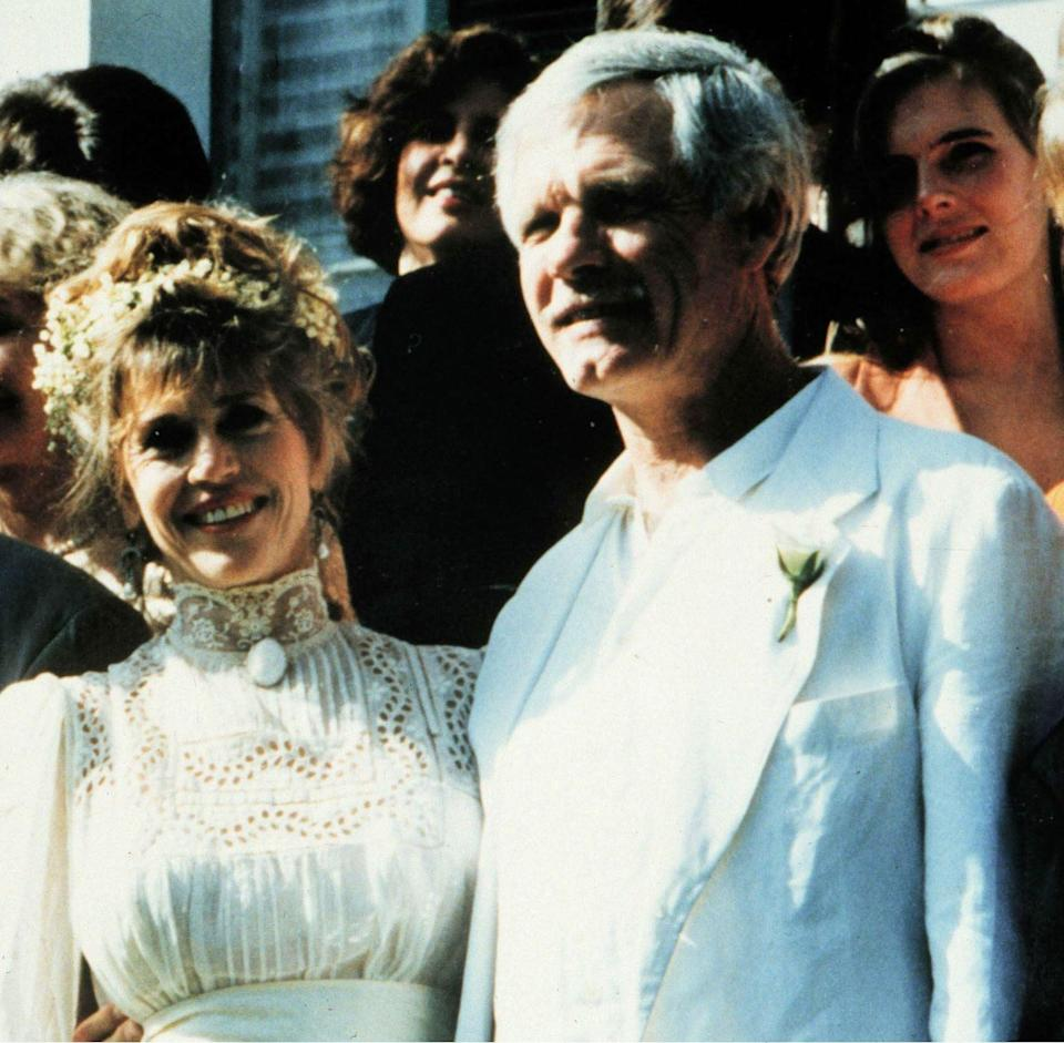 <p>Jane shocked damn near everybody when she began dating billionaire TV tycoon and CNN founder Ted Turner. The two were married at a ranch in Florida on Jane's birthday, Dec. 21, 1991. She was given away by her son, Troy, who was 18 at the time. </p>