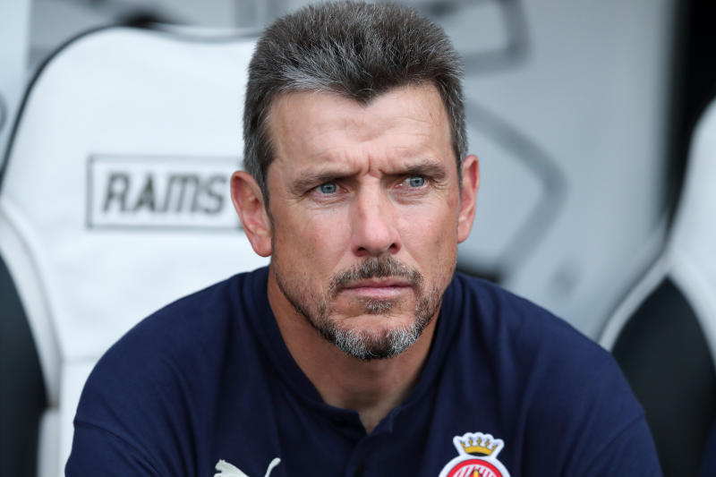DERBY, ENGLAND - JULY 25: Girona manager \ head coach Juan Carlos Unzue during the Pre-Season Friendly between Derby County v Girona at Pride Park Stadium on July 25, 2019 in Derby, England. (Photo by James Williamson - AMA/Getty Images)