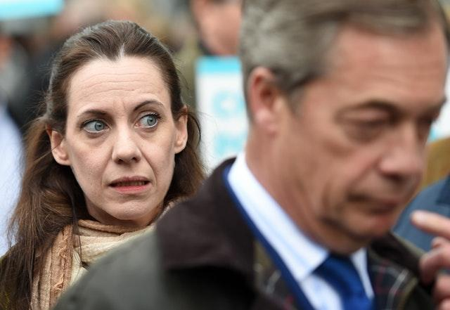 Brexit Party leader Nigel Farage and Annunziata Rees-Mogg