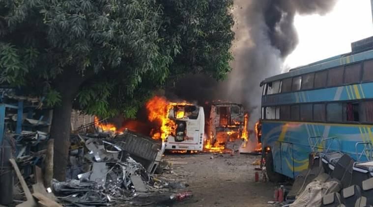 Pune: Six buses Maharashtra state-owned buses burned down, no casualty reported