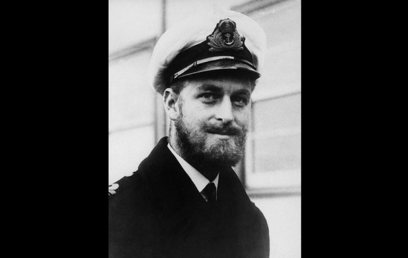 Prince Philip of Greece and Prince of Denmark, paid a visit on Aug. 29, 1945 to Melbourne, Australia. He is a cousin of King George of Greece and of the Duchess of Kent, and is serving with the Royal Navy as second in command os a destroyer of the Pacific Fleet. (AP Photo)