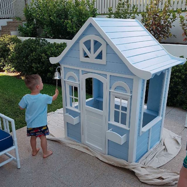 Roxy revealed her finished Hampton's style cubby house this week. Photo: Instagram