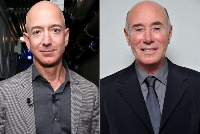 Jeff Bezos (left), David Geffen   Phillip Faraone/Getty Images; Juanito Aguil/Getty Images