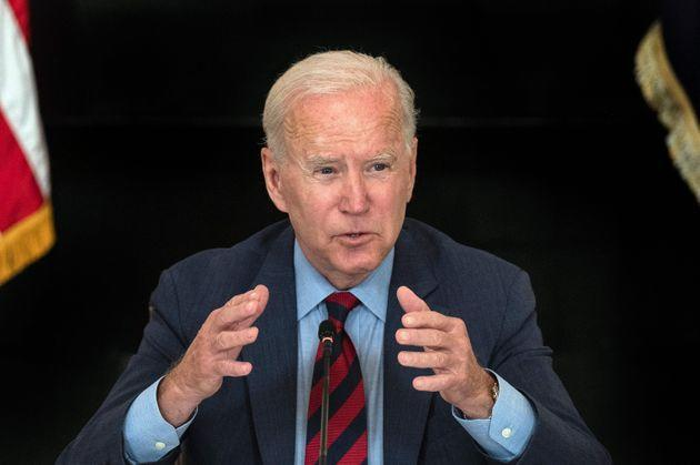 President Joe Biden acknowledged the CDC's coming announcement that it will issue a new eviction moratorium after a speech on vaccination rates on Tuesday. (Photo: JIM WATSON via Getty Images)