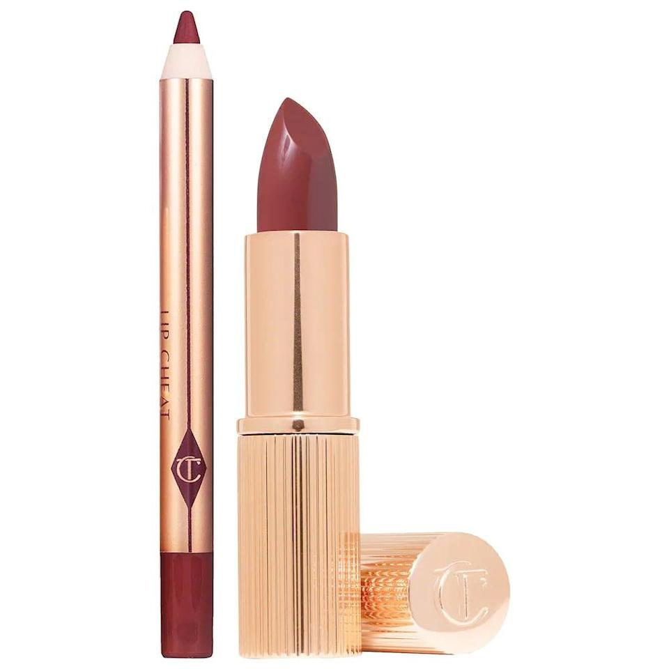 <p>If they love embracing that soft glam aesthetic, they'll love the <span>Charlotte Tilbury Pillow Talk Mini Lipstick &amp; Lip Liner Set</span> ($25). It comes with bestselling Pillow Talk Lipstick with a Lip Cheat Pencil for a dreamy, nude-pink, kissable look.</p>