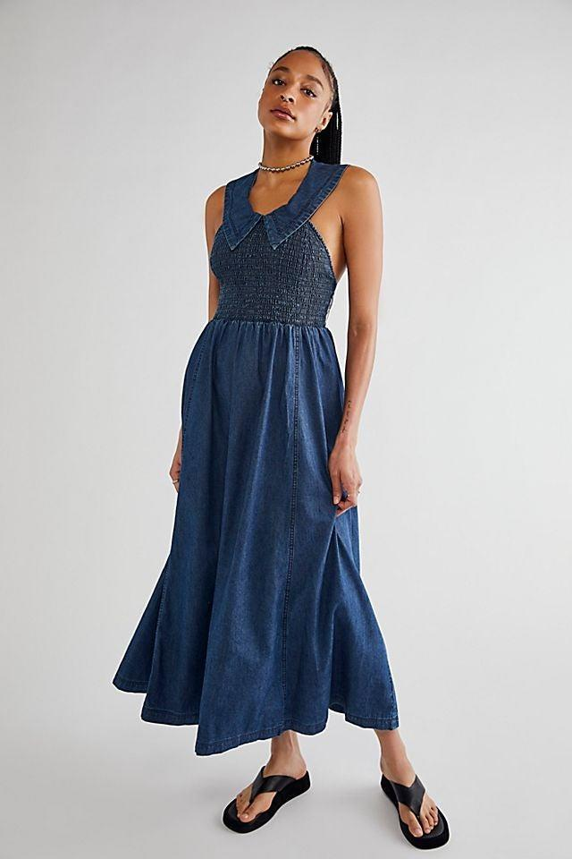 """<br><br><strong>Free People</strong> Bambi Girl Midi Dress, $, available at <a href=""""https://go.skimresources.com/?id=30283X879131&url=https%3A%2F%2Fwww.freepeople.com%2Fshop%2Fbambi-girl-midi-dress%2F"""" rel=""""nofollow noopener"""" target=""""_blank"""" data-ylk=""""slk:Free People"""" class=""""link rapid-noclick-resp"""">Free People</a>"""
