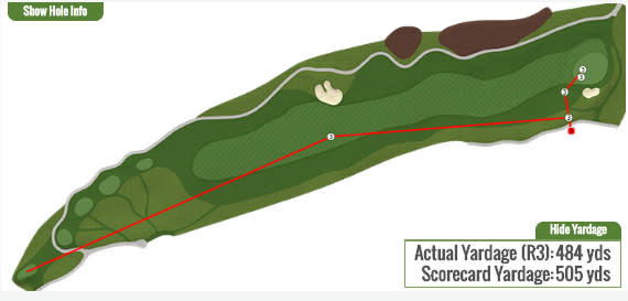 Brendon Todd fourth hole graphic