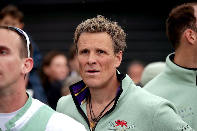 Cambridge's James Cracknell during the Men's Boat Race on the River Thames, London (Credit: PA Images)