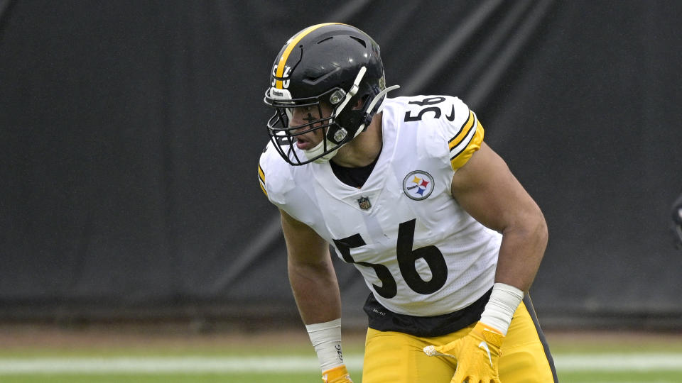 Pittsburgh Steelers linebacker Alex Highsmith must step up into a big void down the stretch of his rookie season. (AP Photo/Phelan M. Ebenhack)