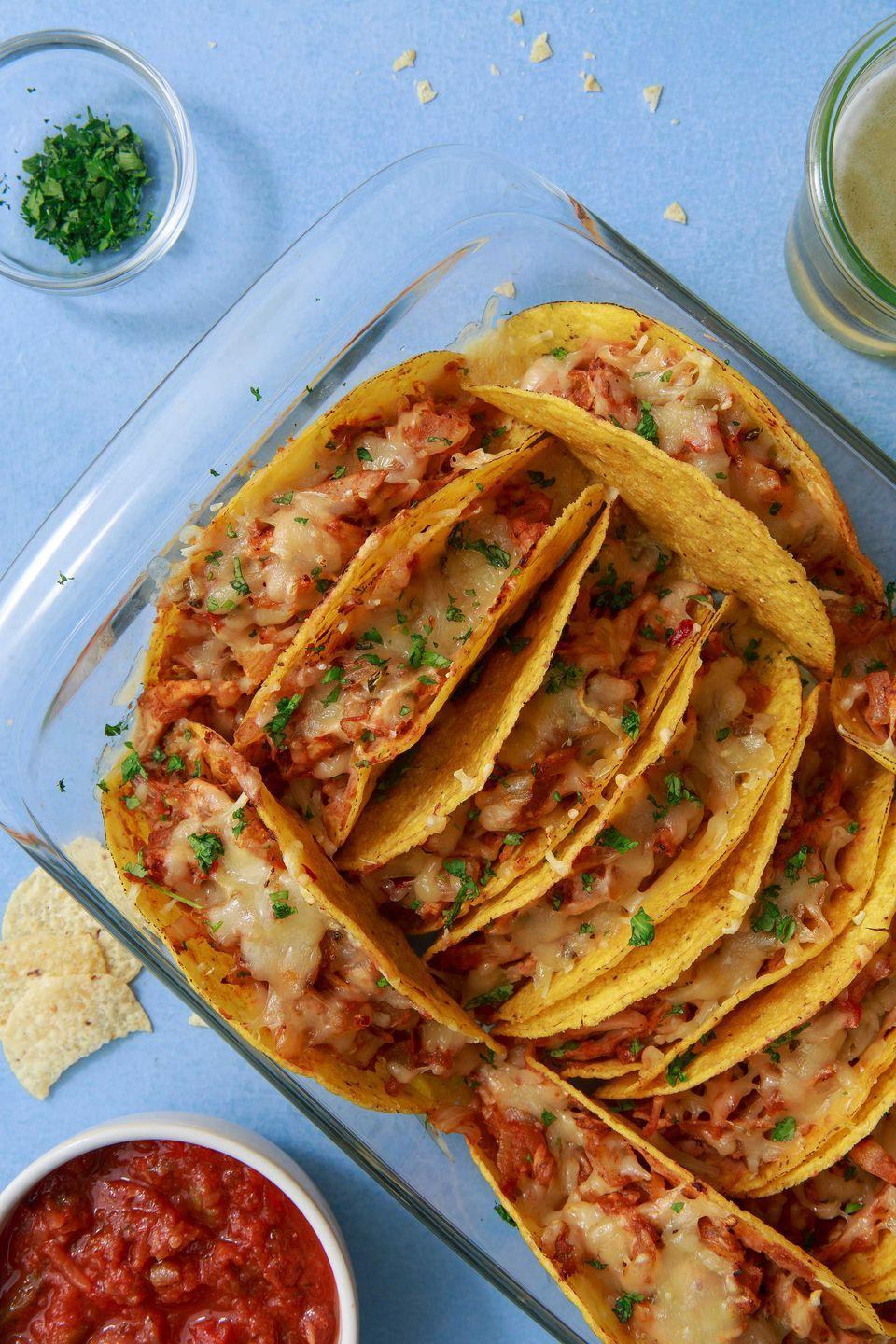 """<p>All tacos should be cheesy. </p><p>Get the recipe from <a href=""""https://www.delish.com/cooking/recipe-ideas/a50265/cheesy-baked-tacos-recipe/"""" rel=""""nofollow noopener"""" target=""""_blank"""" data-ylk=""""slk:Delish"""" class=""""link rapid-noclick-resp"""">Delish</a>. </p>"""