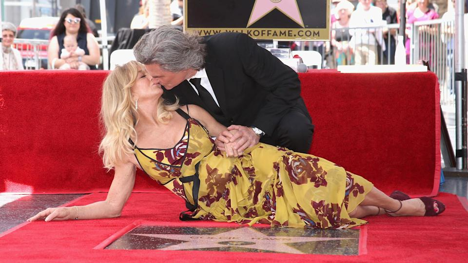 Goldie Hawn and Kurt Russell are honored with a Star On the Hollywood Walk of Fame (Jesse Grant / Getty Images)