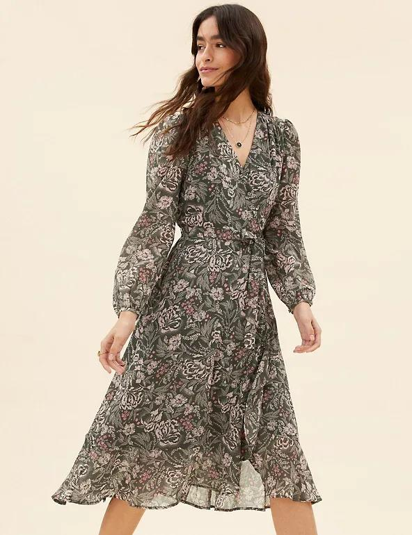 The on-trend midaxi dress is sure to see you through the colder months. (Marks & Spencer)