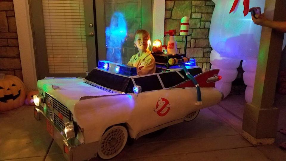 """<p>When there's something strange in the neighborhood, who you gonna call? This year's Ghostbusters movie has been canceled, but searching for ghosts in an Ecto-1 never goes out of style. </p><p><em><a href=""""https://www.facebook.com/rollingwiththepunchesvlog"""" rel=""""nofollow noopener"""" target=""""_blank"""" data-ylk=""""slk:See more at Rolling with the Punches »"""" class=""""link rapid-noclick-resp"""">See more at Rolling with the Punches »</a></em></p>"""