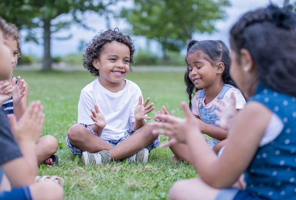 """<p>Since it doesn't require any materials, the <a href=""""https://parenting.firstcry.com/articles/15-amazing-memory-games-for-kids/"""" rel=""""nofollow noopener"""" target=""""_blank"""" data-ylk=""""slk:sound chain game"""" class=""""link rapid-noclick-resp"""">sound chain game</a> can be played anywhere at any time. One player starts by creating a pattern of sounds with snaps and claps, and then each following player must repeat the sound before adding a sound of their own.</p>"""