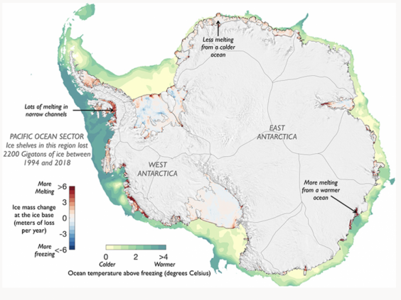 Antarctica's ice-shelf melting over the past quarter of a century (Scripps Institution of Oceanography)