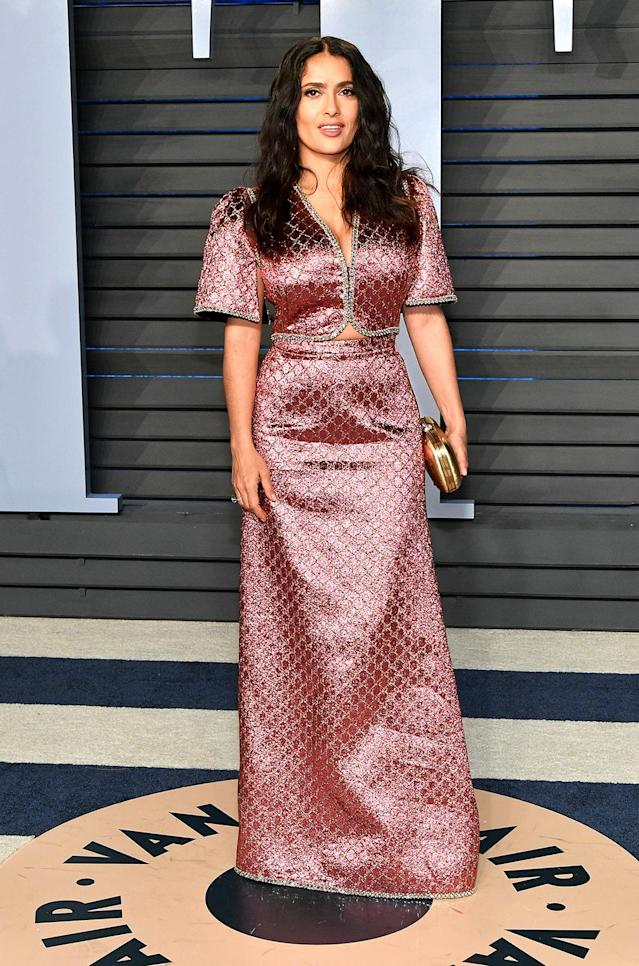 <p>The actress was ready to unwind after speaking at the Oscars with Ashley Judd and Annabella Sciorra in support of #TimesUp. (Photo: Dia Dipasupil/Getty Images) </p>