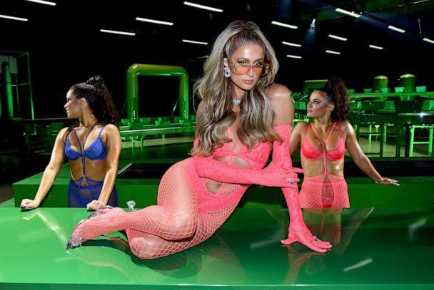 PHOTO: In this image released on Oct. 1, 2020, Paris Hilton is seen onstage during Rihanna's Savage X Fenty Show Vol. 2 presented by Amazon Prime Video at the Los Angeles Convention Center in Los Angeles. (Kevin Mazur/Getty Images for Savage X Fenty Show Vol. 2 Presented by Amazon Prime Video)