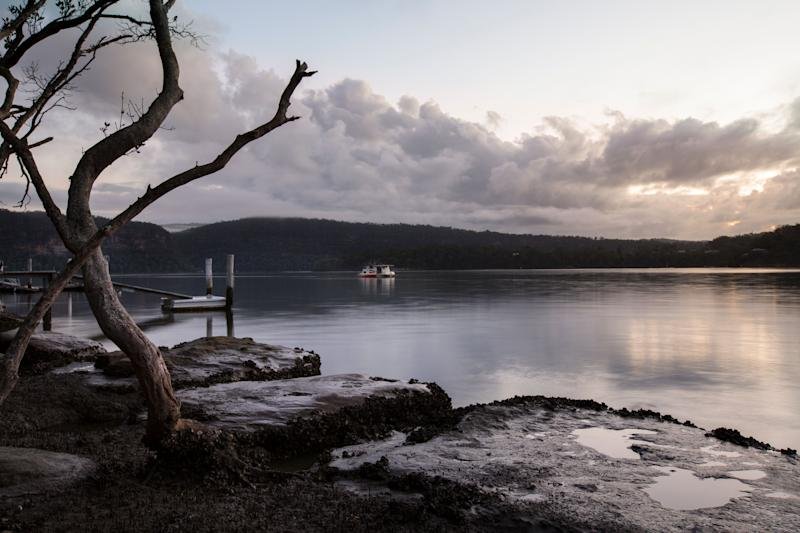 Early morning view from the banks of the Hawkesbury river, Sydney, Australia, NSW (Photo: shells1 via Getty Images)