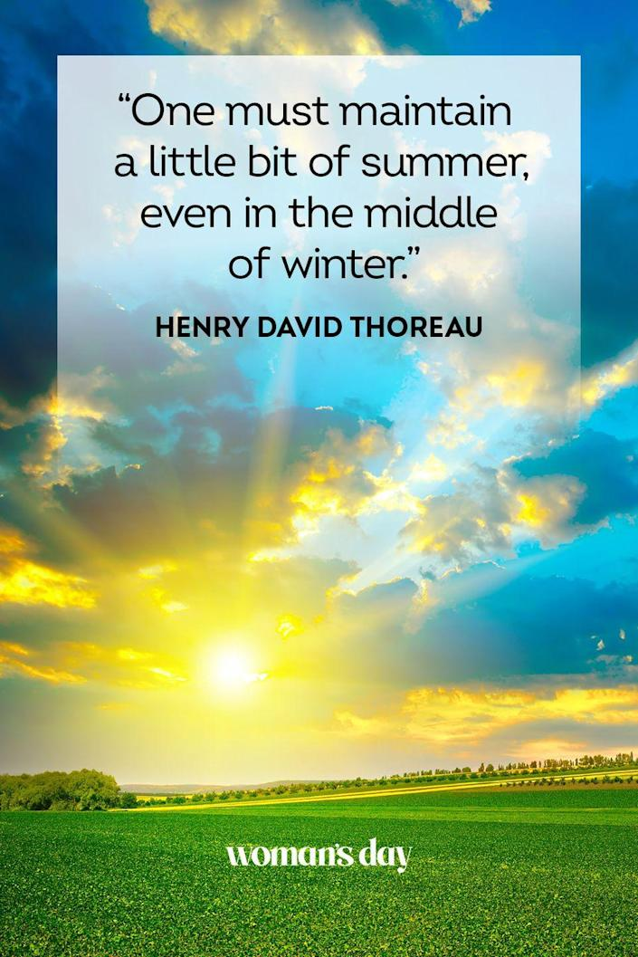 """<p>""""One must maintain a little bit of summer even in the middle of winter.""""</p>"""