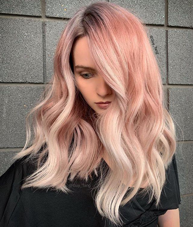 """<p>Celebrate your love for summer's favorite drink with this light pink shade that subtly fades to almost-white at the tips. Want to make sure color doesn't fade? Tang says to wash hair less and use products focused on preserving the shade's vibrancy. </p><p><strong>Try: Overtone</strong> Original Rose Gold Daily Conditioner, $17, <a href=""""https://overtone.co/collections/shop-by-color-rose-gold/products/original-rose-gold-daily-conditioner"""">overtone.co</a>. <a class=""""body-btn-link"""" href=""""https://overtone.co/collections/shop-by-color-rose-gold/products/original-rose-gold-daily-conditioner"""" target=""""_blank"""">SHOP</a></p><p><a href=""""https://www.instagram.com/p/BqyoPpEhhvV/"""">See the original post on Instagram</a></p>"""