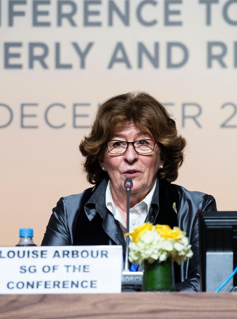 UN special representative Louise Arbour hit back at critics of the pact, saying it does not create a right to migrate (AFP Photo/FADEL SENNA)