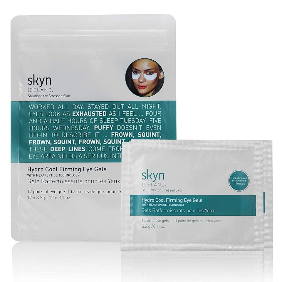 <p><span>skyn ICELAND Hydro Cool Firming Eye Gels 12 Pairs</span> ($34, originally $45)</p>