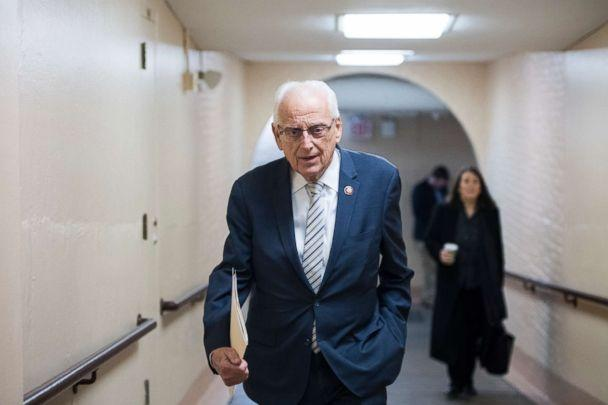 PHOTO: Rep. Bill Pascrell leaves the House Democrats' caucus meeting at the Capitol, Jan. 4, 2019, in Washington, DC. (Bill Clark/CQ-Roll Call,Inc./Getty Images)