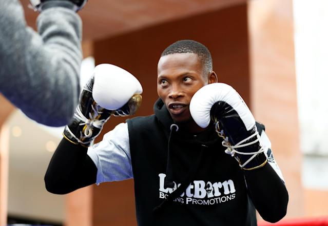Boxing - Zolani Tete vs Omar Andres Public Work-Outs - Victoria Square Shopping Centre, Belfast, Britain - April 19, 2018 Zolani Tete during the public work out Action Images via Reuters/Jason Cairnduff