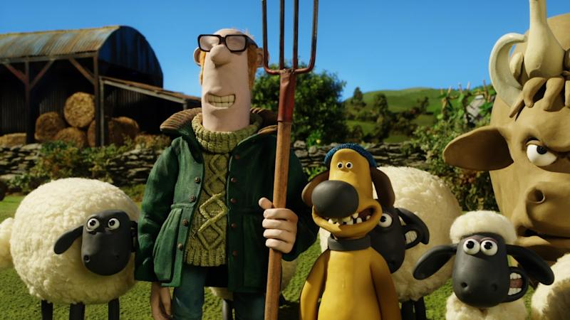 Image result for shaun the sheep and farmer