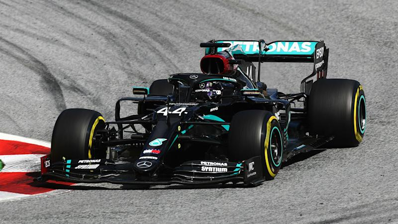 Hamilton storms to first win of the season as Ferrari duo crash