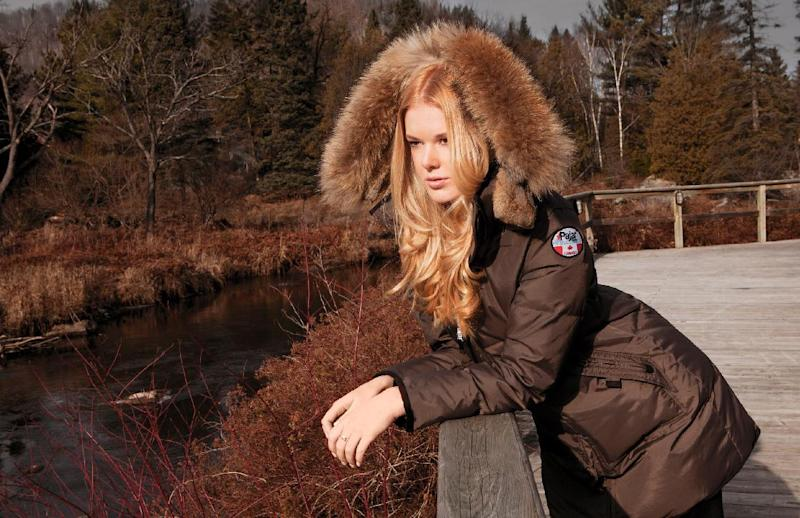 This product image released by Pajar Canada shows a mocha colored Cougar jacket made of rabbit and raccoon fur. (AP Photo/Pajar Canada)
