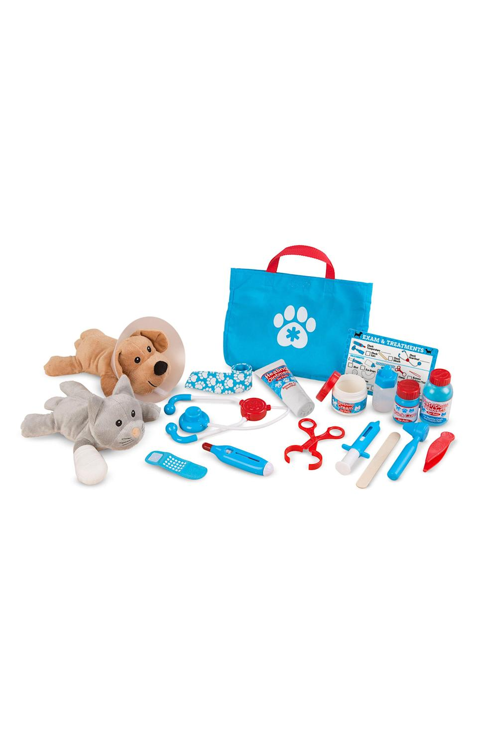 "<p><strong>MELISSA & DOUG</strong></p><p>nordstrom.com</p><p><strong>$29.99</strong></p><p><a href=""https://go.redirectingat.com?id=74968X1596630&url=https%3A%2F%2Fshop.nordstrom.com%2Fs%2Fmelissa-doug-24-piece-pet-vet-play-set%2F4793870&sref=https%3A%2F%2Fwww.redbookmag.com%2Flife%2Fg34811477%2Fblack-friday-cyber-monday-baby-deals-2020%2F"" rel=""nofollow noopener"" target=""_blank"" data-ylk=""slk:Shop Now"" class=""link rapid-noclick-resp"">Shop Now</a></p><p>Calling all future vets.</p>"