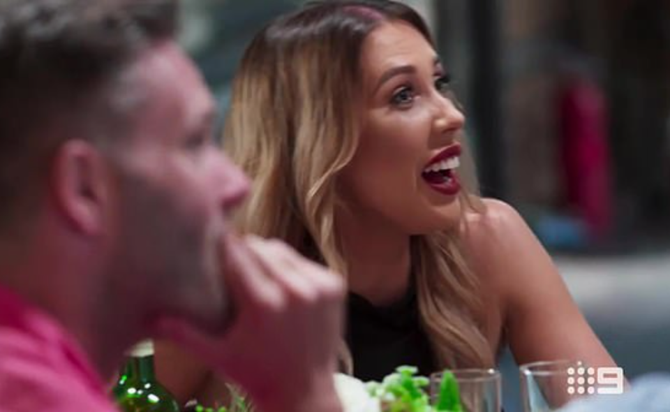 mafs bride bec speaks to intruder couple at their wedding