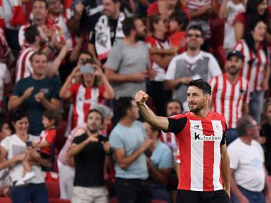 LaLiga: Aritz Aduriz scores sensational goal as Lionel Messi-less Barcelona begin title defence with loss to Athletic Bilbao