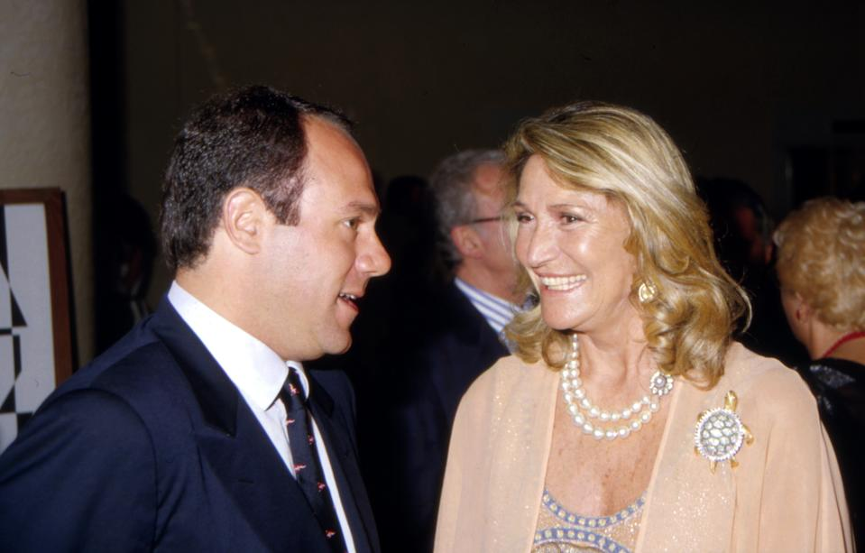 Con Marta Marzotto (Photo by Archivio APG/Mondadori via Getty Images)