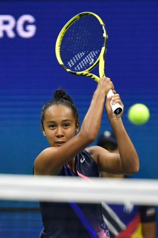 During her run to the US Open final, Canadian teen Leylah Fernandez became the first player to eliminate three top-five players at a Grand Slam event since Serena Williams in 2012 at Wimbledon (AFP/Ed JONES)