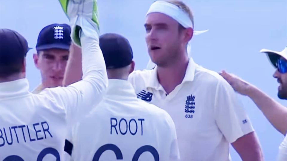 Stuart Broad, pictured here during the first Test against Sri Lanka.