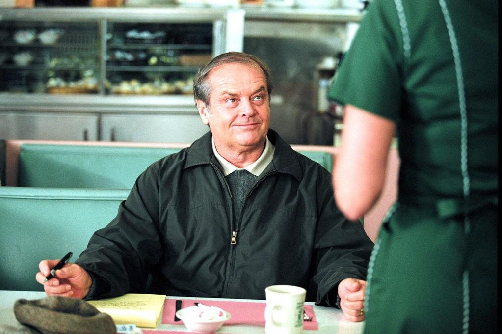 """<a href=""""http://movies.yahoo.com/movie/1807815980/info"""">About Schmidt</a> (2002): More than 30 years after """"Easy Rider,"""" Nicholson is back on the road to self-discovery. This time, the terrain provides the path not for psychedelic revelations, but for sobering reality. As Warren Schmidt, a recently retired actuary from Omaha, Neb., Nicholson delivers one of the more understated performances of his career, but also one of the most powerful. Gone are the trademark wild hair, raised eyebrows and impish grin. He goes small in Alexander Payne's affectionate satire of middle America, and it produces big results, earning him his 12th Oscar nomination."""