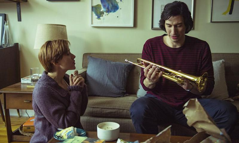 Adam Driver with Scarlett Johansson in Marriage Story.