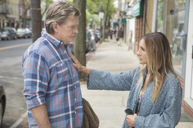 """<p><strong>This season's theme:</strong> """"I see the first season as the blowup, and this is the aftermath,"""" showrunner Jenny Bicks explains. """"This is the picking up of the pieces.""""<br><br><strong>Where we left off:</strong> Robert (Thomas Haden Church) calls the cops on his soon-to-be-ex wife Frances DuFresne (Sarah Jessica Parker) for taking the kids on his weekend, prompting her to issue this ominous warning: """"You've lost everything now.""""<br><br><strong>Coming up:</strong> With their divorce now final, Robert and Frances play the dating game — with mixed results. """"Robert doesn't really know what he's searching for,"""" Church teases. """"But he met someone that he can sincerely drop his guard for."""" The exes also deal with career changes, differing parenting styles, and an illness within Robert's dysfunctional family.<br><br><strong>The 'stache is trashed</strong><strong>:</strong> Robert's bushy mustache was practically another character in the first season of <em>Divorce</em>, but he loses it for Season 2. """"In a way, it was his hiding mechanism,"""" Bicks says of the facial hair. """"He's grown this thing to protect himself, to try to be different. … It was delightful to get rid of the mustache. One of my proudest accomplishments in Season 2."""" <em>— Victoria Leigh Miller</em><br><br>(Photo: HBO) </p>"""