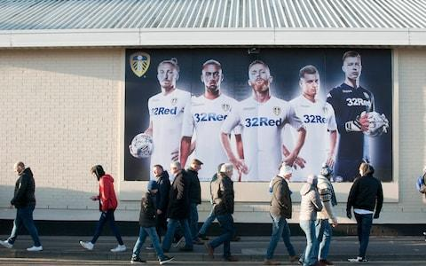 Leeds fans make their way to Elland Road stadium - Credit: getty images