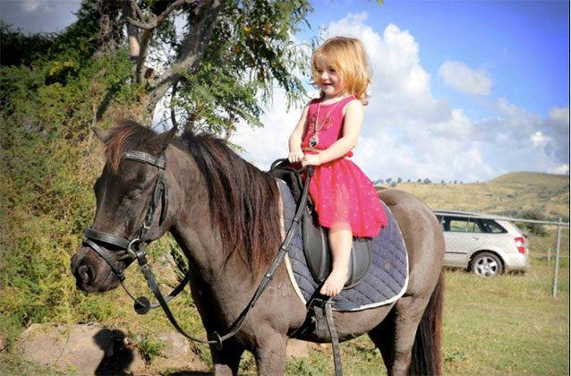 A grieving mother has paid a tribute to her two-year-old 'princess' who died after being struck by a ute in the driveway of her Queensland property. Picture: Facebook