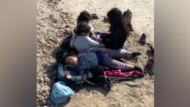 PHOTO: In a photo posted to Rep. Tony Gonzales' Twitter account on May 9, 2021, shows shows five migrant children ranging between 11-months-old to 7 found outside a ranch near Quemado, Texas. (Rep. Tony Gonzales/Twitter)