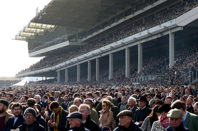 The stands were packed for the 2020 Cheltenham Festival